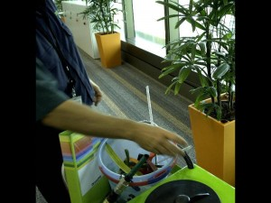 Our Indoor Plant Technician Job vacancy page shows a 99 litre water trolley being used to water indoor plants in Brisbane CBD.