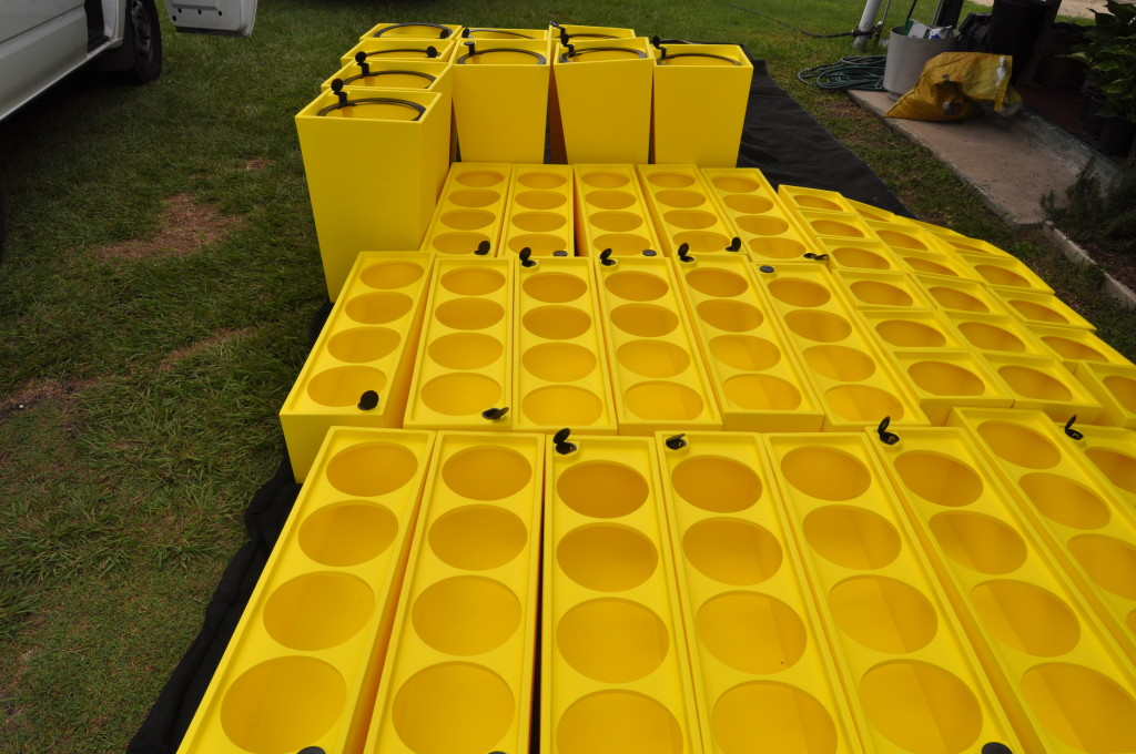 An image of 10 Urban Wedges and 30 Urban 8 troughs all in pineapple.