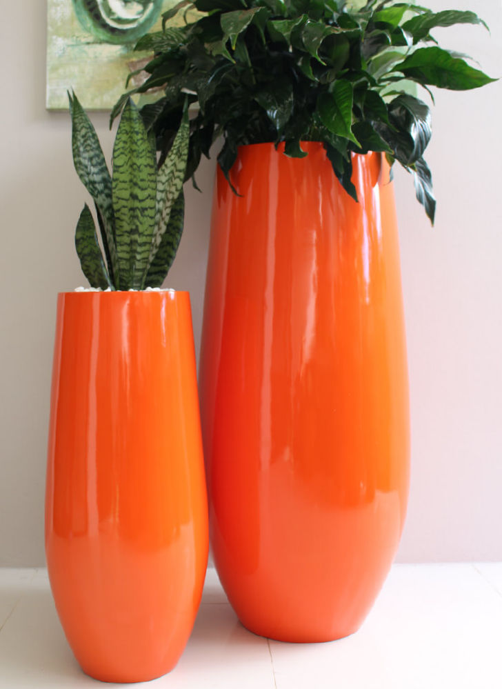 Showing two Hendra planters in Orange.